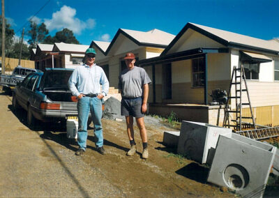Peter Moroney with Ross Peterkin at Bellingen in 1998