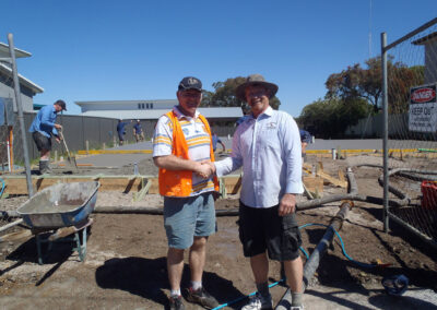 Peter Moroney Building Certifier and Tony Butterfield on the Construction site